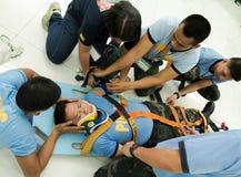 Sanitäter Training Stockbilder