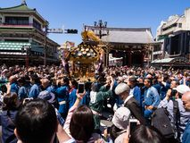 SANJA MATSURI a traditional event in Tokyo royalty free stock photo