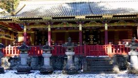 Sanjinko-Three heilig Lagerhaus-an Toshogu-Schrein stock video footage