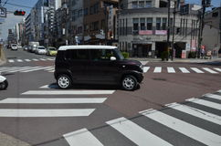 Sanjo-dori Avenue Nara Japan stock photography