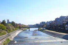 Sanjo Dori Bridge, Kyoto, Japón imagen de archivo