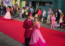 Sanjoaninas庆祝, Angra做Heroismo, Terceira海岛, Azo 库存照片