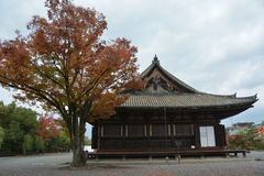 Sanjusangendo Temple. Wiht Japanese Maple in Autumn Stock Images