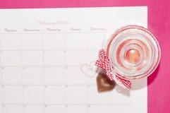 Sanka valentin dag - 14 av februari Arkivbild