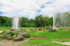 Sankampaeng gorącej wiosny Chiang Mai Tajlandia, Zdjęcia Royalty Free