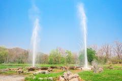 Sankampang-heiße Quellen, Chiang Mai, Thailand stockbild