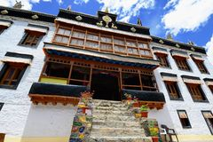 Sankar Gompa Buddhist Monastery in the Leh city in Ladakh. View on the beautifully Sankar Gompa Buddhist Monastery in the Leh city in Ladakh, Jammu and Kashmir Stock Image