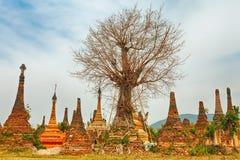 Sankar pagoda. Shan state. Myanmar. Stock Images