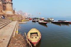 Sankatha Ghat em Varanasi no Ganges River Fotos de Stock