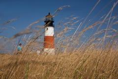 Sankaty Head Lighthouse Stroll royalty free stock photo