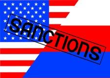 Sankcje dla Russia dwa ilustracja wektor