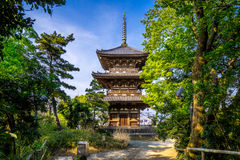 Sankei Pagoda. This pagoda located at Sankei park on top of the hill near YOKOHAMA stock photo