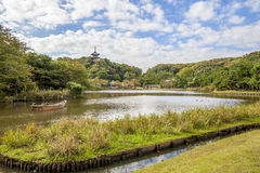 Sankei trädgård royaltyfria bilder