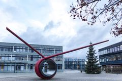 Sankt奥古斯丁,北莱茵-威斯特法伦/德国- 09 11 18:波恩莱茵在sankt奥古斯丁德国的sieg大学 免版税图库摄影