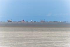 Sankt Питер Ording, Северное море (Германия) стоковое фото