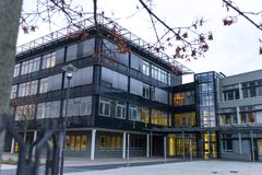 Sankt Agostinho, Reno-Westphalia norte/Alemanha - 09 11 18: universidade do sieg de Bona rhein no sankt Agostinho Alemanha fotos de stock