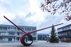Sankt Agustín, Rin-Westfalia del norte/Alemania - 09 11 18: universidad del sieg de Bonn Rhin en el sankt Agustín Alemania fotografía de archivo libre de regalías