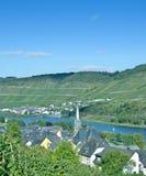 Sankt Aldegund, Mosel dal, Tyskland arkivbild