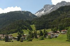 Sankt Anton am Arlberg, Austria.  Stock Images