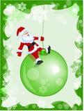 Sankt auf Weihnachtskugel Stockbild