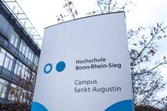 Sankt Augustin Północny Westphalia, Germany,/- 09 11 18: bonn Rhein sieg uniwersytet w sankt Augustin Germany obrazy stock