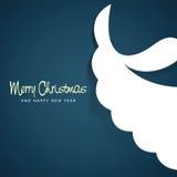 Sankt-Bart für Weihnachten und neues Jahr vektor abbildung