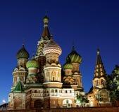 Sankt basilikadomkyrka, Moskva arkivbilder