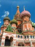 Sankt basilikadomkyrka på den röda fyrkanten i Moskva, Ryssland Arkivfoton