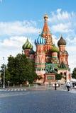 Sankt basilikadomkyrka på röd fyrkant i Moskva Arkivbilder