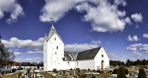 Sankt Clemens church on the island Romo Royalty Free Stock Photos