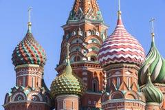 Sankt domkyrka för basilika` s i Moskva Royaltyfri Fotografi
