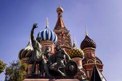 Sankt domkyrka f?r basilika` s i r?d fyrkant i Moskva, Ryssland arkivbilder