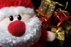 Sankt + Geschenke Stockfoto