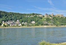 Sankt Goar, el río Rhine, Alemania fotografía de archivo libre de regalías