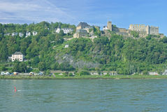 Sankt Goar, Rhine River, Tyskland Arkivfoto