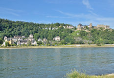 Sankt Goar, Rijn-Rivier, Duitsland Royalty-vrije Stock Fotografie