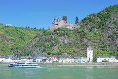 Sankt Goarshausen, el río Rhine, Alemania foto de archivo