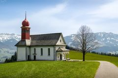 Sankt Joseph church in beautiful Entlebuch biosphere reserve. Switzerland royalty free stock images