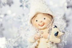 Sankt Klaus, Himmel, Frost, Beutel Lizenzfreie Stockfotografie