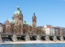 Sankt Lukas kyrka i Munich arkivbilder