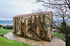 Sankt MarÃa Del Naranco Vor-Romanik Palast und chuch in Ast Lizenzfreies Stockfoto