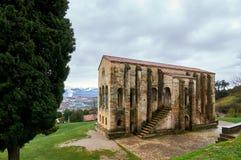 Sankt MarÃa Del Naranco Vor-Romanik Palast und chuch in Ast Lizenzfreie Stockfotos