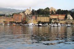 Sankt Margherita Ligure, Italien stockbild
