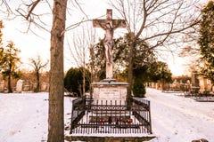 Sankt Marx Cemetery i Wien Arkivfoto