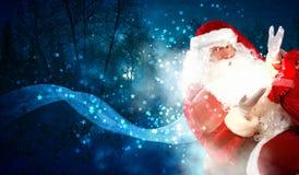 Weihnachtsthema mit Sankt Stockfotografie