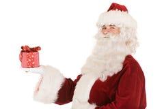 Sankt mit Geschenk lizenzfreie stockbilder