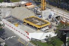 Sankt Moritz, die Schweiz - Vorbereiten der Grundlage Stockfoto
