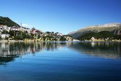 Sankt moritz lake Stock Photos