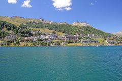 Sankt moritz town Stock Image