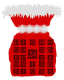 Sankt- Nikolausbeutel mit Aufkommenkalender Lizenzfreie Stockfotos